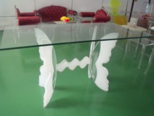 Lucite Glass Butterfly Shape Dining Table (CT904)