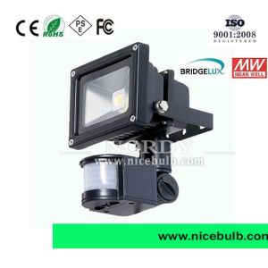 High Power Outdoor Waterproof 85-265V 20W Sensor LED Flood Light