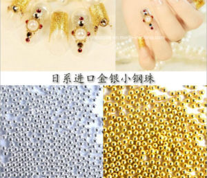 Mini Beads 0.8mm 1mm 1.5mm 2mm Gold Silver Caviar Round 3D Nail Art Metal Caviar Beads pictures & photos