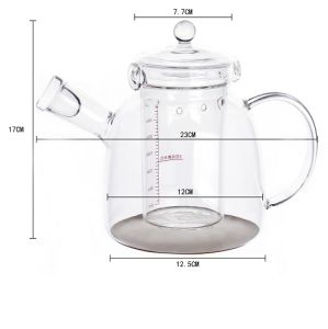 1200ml Stainless Steel Heat Resistant Glass Teapot pictures & photos