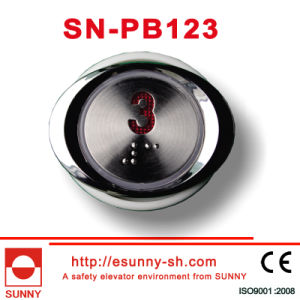 Push Buttons with Blue Back Light and Braille (SN-PB123) pictures & photos