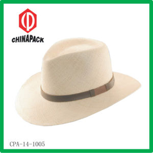 Straw Men Cowboy Summer Hat (CPA-14-1005) pictures & photos
