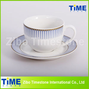 12PC Stoneware 200ml Ceramic Cup and Saucer (91006-008) pictures & photos