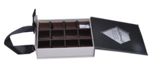 Paper Cardboard Gift Chocolate Packaging Box with Fabric Handle pictures & photos