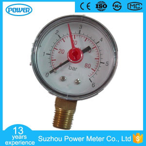 60mm Plastic Case with Red Pointer Pressure Gauge pictures & photos