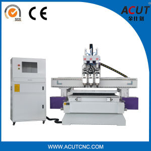 3D CNC Solid Wood Cutting Machine with 3 Spindle pictures & photos