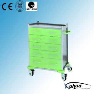 5 Drawers Hospital Medical Medicine Treatment Trolley (N-23) pictures & photos