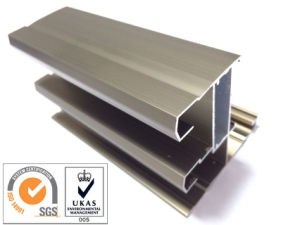 Champange Anodized Aluminum Profile for Door pictures & photos