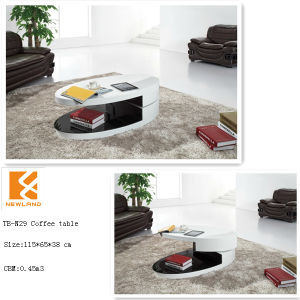 Foshan Newland Furniture Modern Living Room Coffee Table Oval Coffee Table (TB-N29)