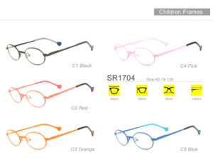 New Style Wholesale Stock Kids Eyewear Eyeglass Optical Metal Frame Sr1704 pictures & photos