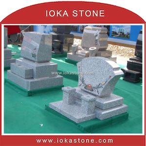 Japanese Style Granite Memorial / Gravestone (HS-340)