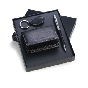 Promotional Pen Leather Card Case Gift Set