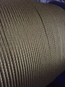 Golden Colour Steel Wire Rope 6X36ws+Iwrc pictures & photos