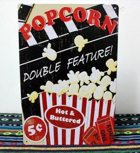 Popcorn Tin Metal Posters/Signs pictures & photos