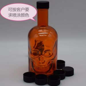 Skull Design Alcohol Glass Container, Glass Package, Wine Bottle pictures & photos
