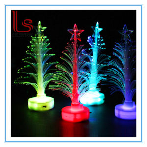 Christmas Ornaments 12 Cm Transparent Optical Fiber Light-Emitting LED Mini Small Christmas Tree pictures & photos