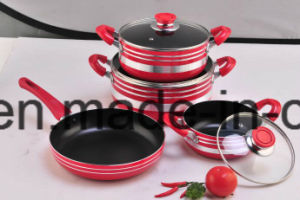 Non-Stick Coated Aluminium Pots and Frying Pans for Cookware Set Sx-T008 pictures & photos