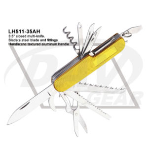 "3.5"" Closed Yellow Aluminum Handle Multi-Tool (Lh511-35ah) pictures & photos"