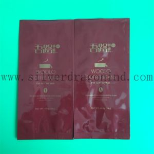 Red Color Plastic Coffee Bag with Valve and Side Gusset pictures & photos