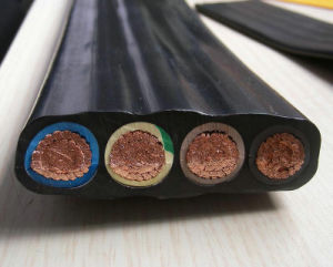Flexible Cable Flat Cable Four Cores Annealed Copper Power Cable pictures & photos
