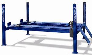 Four Post Hydraulic Car Lift Used for Alignment Dfpl712b pictures & photos