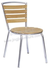 Outdoor Aluminium Wood Garden Dining Cafe Chair (JJ-AW08)