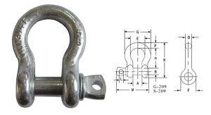 Us Type Drope Forged Shackle G209 Shackle pictures & photos