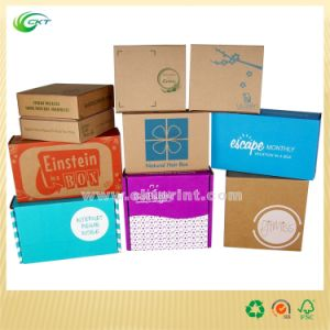 Kraft Paper Packaging Box with Screen Printing (CKT-CB-432)
