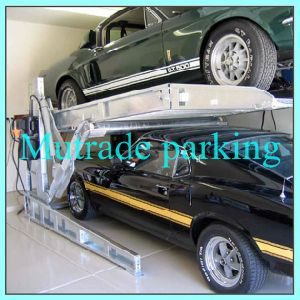 2 Post Double Hydraulic Smart Car Parking Lifts Tilting Car Stacker pictures & photos