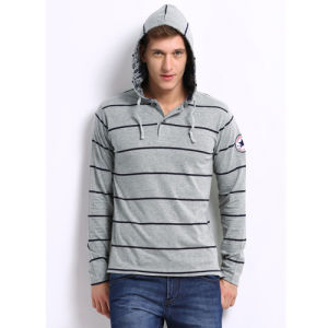 OEM Comfortable Embroidery Logo Casual Stripe Men Hoodie pictures & photos