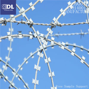 High Quality Galvanized Razor Barbed Wire (KDL-19) pictures & photos