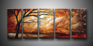 Handmade Large Canvas Art Landscape Tree Oil Painting (LA5-019) pictures & photos