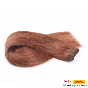 Wholesale Indian Remy Human Hair Extension Double Drawn Thick Hair pictures & photos