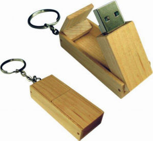 64GB Wooden Swivel USB Pendrive Keyring Flash Memory (UW07) pictures & photos