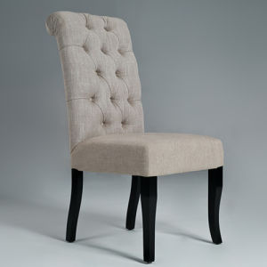 Tufted Linen Fabric Dining Chair Restaurant Chair (GK6003)