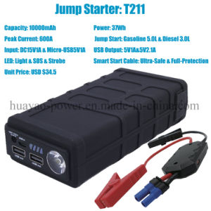 10000mAh 600A Portable Jump Starter Emergency Power Supply Battery pictures & photos