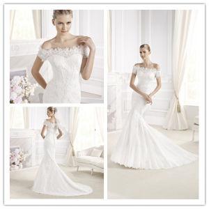 China off Shoulder Short Sleeve Mermaid Wedding Dress (XZ508 ...