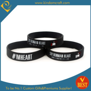 Custom Silk Screen Printing Silicone Wristbands for Sports and Party pictures & photos