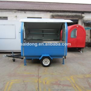New Type Mobile Food Cart with Wheel