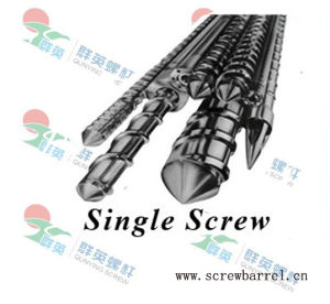 Bimetallic Screw Barrel for Plastic Processing Extruder Machine (QY-L031)