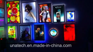 Factory Sell Slim Crystal LED Acrylic Light Box pictures & photos