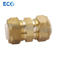 Brass Straight Double Coupling Pipe Fittings for PPR pictures & photos