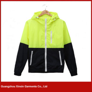 Wholesale Fashionable Men′s Cheap Hoodie Windbreaker Jacket (J131) pictures & photos