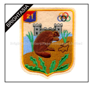 Custom Persionality Embroidery Patch with Felt Material for Clothing (BYH-10969) pictures & photos