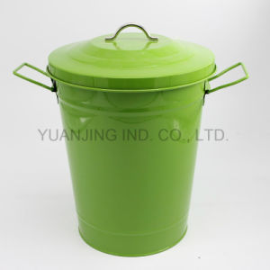 Metal Galvanized Dustbin Garbage Rubbish Bin with Lid Powder Coating pictures & photos
