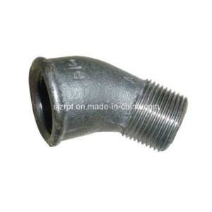 45D Beaded Street Elbow Malleable Iron Pipe Fitting pictures & photos