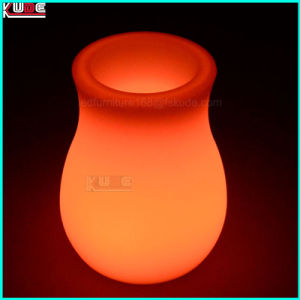 LED Christmas Gift Decoration 7 Color Change LED Table Vase pictures & photos