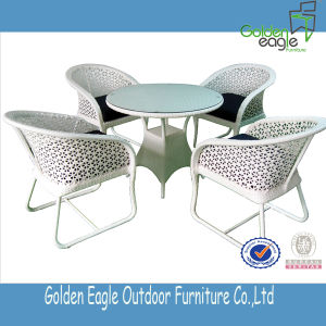 PE Rattan Garden Dining Set Chair