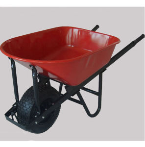 Wooden Handle with Big Tyre Wheel Wheelbarrow pictures & photos