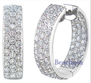 Synthetic Diamond CZ Sterling Silver Earrings for Women (E8913) pictures & photos